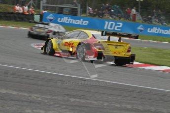 © Octane Photographic Ltd. 2012. DTM – Brands Hatch  - DTM Warm up session. Sunday 20th May 2012. David Coulthard - Mercedes AMG C-Coupe - DHL Paket Mercedes AMG. Digital Ref : 0347lw7d5159