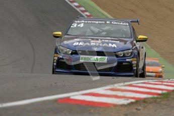 © Octane Photographic Ltd. 2012. DTM – Brands Hatch  - Volkswagen Scirocco R-Cup Qulaifying. Digital Ref :