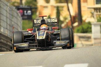 © Octane Photographic Ltd. 2012. F1 Monte Carlo - GP2 Practice 1. Thursday  24th May 2012. James Calado - Lotus GP. Digital Ref : 0353cb1d0640