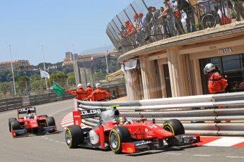© Octane Photographic Ltd. 2012. F1 Monte Carlo - GP2 Practice 1. Thursday  24th May 2012. Fabio Onidi and Stefano Coletti - Scuderia Coloni. Digital Ref : 0353cb7d7651