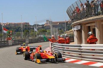 © Octane Photographic Ltd. 2012. F1 Monte Carlo - GP2 Practice 1. Thursday  24th May 2012. Fabio Leimer and Nathanael Berthon - Racing Engineering. Digital Ref : 0353cb7d7669