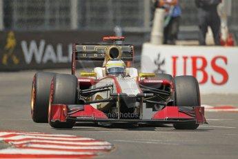 © Octane Photographic Ltd. 2012. F1 Monte Carlo - Qualifying - Session 1. Saturday 26th May 2012. Pedro de la Rosa - HRT. Digital Ref : 0355cb1d6614