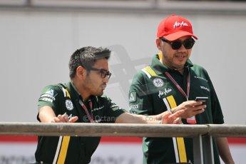 © Octane Photographic Ltd. 2012. F1 Monte Carlo - Qualifying - Session 2. Saturday 26th May 2012. Riad Asmat (Group CEO) and Kamarudin Meranun (Deputy Team Principle) - Caterham. Digital Ref : 0355cb1d6683