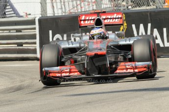 © Octane Photographic Ltd. 2012. F1 Monte Carlo - Qualifying - Session 2. Saturday 26th May 2012. Jenson Button - McLaren. Digital Ref : 0355cb1d6703