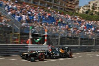 © Octane Photographic Ltd. 2012. F1 Monte Carlo - Qualifying - Session 1. Saturday 26th May 2012. Heikki Kovalainen - Caterham. Digital Ref : 0355cb7d8759