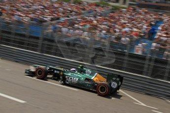 © Octane Photographic Ltd. 2012. F1 Monte Carlo - Qualifying - Session 1. Saturday 26th May 2012. Vitaly Petrov - Caterham. Digital Ref : 0355cb7d8766