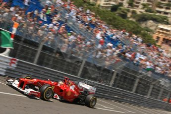 © Octane Photographic Ltd. 2012. F1 Monte Carlo - Qualifying - Session 1. Saturday 26th May 2012. Fernando Alonso - Ferrari. Digital Ref : 0355cb7d8777