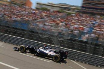 © Octane Photographic Ltd. 2012. F1 Monte Carlo - Qualifying - Session 1. Saturday 26th May 2012. Pastor Maldonado - Williams. Digital Ref : 0355cb7d8814