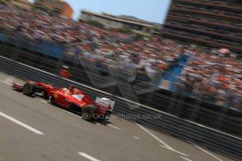 © Octane Photographic Ltd. 2012. F1 Monte Carlo - Qualifying - Session 1. Saturday 26th May 2012. Fernando Alonso - Ferrari. Digital Ref : 0355cb7d8853