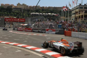 © Octane Photographic Ltd. 2012. F1 Monte Carlo - Qualifying - Session 2. Saturday 26th May 2012. Nico Hulkenberg - Force India. Digital Ref : 0355cb7d8857