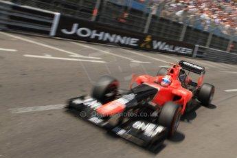 © Octane Photographic Ltd. 2012. F1 Monte Carlo - Qualifying - Session 2. Saturday 26th May 2012. Timo Glock - Marussia. Digital Ref : 0355cb7d8875