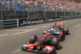 © Octane Photographic Ltd. 2012. F1 Monte Carlo - Qualifying - Session 2. Saturday 26th May 2012. Jenson Button - McLaren. Digital Ref : 0355cb7d8882