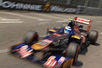 © Octane Photographic Ltd. 2012. F1 Monte Carlo - Qualifying - Session 2. Saturday 26th May 2012. Jean-Eric Vergne - Toro Rosso. Digital Ref : 0355cb7d8892