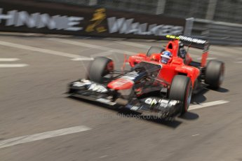 © Octane Photographic Ltd. 2012. F1 Monte Carlo - Qualifying - Session 2. Saturday 26th May 2012. Charles Pic - Marussia. Digital Ref : 0355cb7d8896