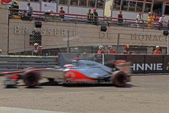 © Octane Photographic Ltd. 2012. F1 Monte Carlo - Qualifying - Session 2. Saturday 26th May 2012. Jenson Button - McLaren. Digital Ref : 0355cb7d8953