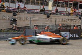 © Octane Photographic Ltd. 2012. F1 Monte Carlo - Qualifying - Session 2. Saturday 26th May 2012. Paul di Resta - Fore India. Digital Ref : 0355cb7d8955