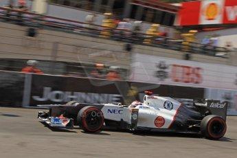 © Octane Photographic Ltd. 2012. F1 Monte Carlo - Qualifying - Session 2. Saturday 26th May 2012. Kamui Kobayashi - Sauber. Digital Ref : 0355cb7d8957