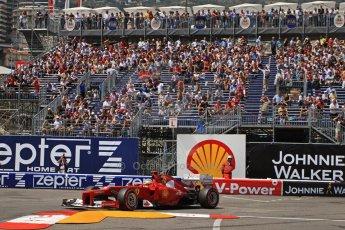 © Octane Photographic Ltd. 2012. F1 Monte Carlo - Qualifying - Session 2. Saturday 26th May 2012. Fernando Alonso - Ferrari. Digital Ref : 0355cb7d9018