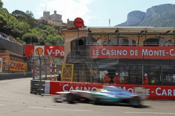 © Octane Photographic Ltd. 2012. F1 Monte Carlo - Qualifying - Session 3. Saturday 26th May 2012. Nico Rosberg - Mercedes. Digital Ref : 0355cb7d9041