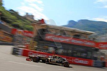 © Octane Photographic Ltd. 2012. F1 Monte Carlo - Qualifying - Session 3. Saturday 26th May 2012. Kimi Raikkonen - Lotus. Digital Ref : 0355cb7d9063