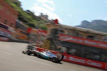 © Octane Photographic Ltd. 2012. F1 Monte Carlo - Qualifying - Session 3. Saturday 26th May 2012. Michael Schumacher - Mercedes. Digital Ref : 0355cb7d9077