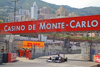 © Octane Photographic Ltd. 2012. F1 Monte Carlo - Qualifying - Session 3. Saturday 26th May 2012. Pastor Maldonado - Williams. Digital Ref : 0355cb7d9125
