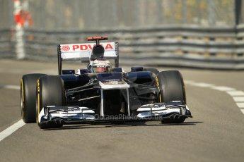 © Octane Photographic Ltd. 2012. F1 Monte Carlo - Practice 1. Thursday  24th May 2012. Pasor Maldonado - Williams. Digital Ref : 0350cb1d0134