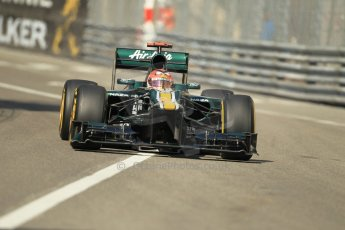 © Octane Photographic Ltd. 2012.  F1 Monte Carlo - Practice 1. Thursday  24th May 2012. Heikki Kovalainen - Caterham. Digital Ref : 0350cb1d0179