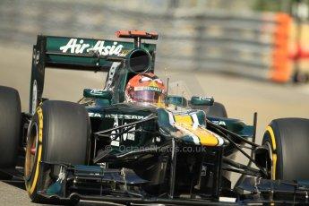 © Octane Photographic Ltd. 2012.  F1 Monte Carlo - Practice 1. Thursday  24th May 2012. Heikki Kovalainen - Caterham. Digital Ref : 0350cb1d0183