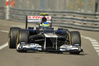 © Octane Photographic Ltd. 2012.  F1 Monte Carlo - Practice 1. Thursday  24th May 2012. Bruno Senna - Williams. Digital Ref : 0350cb1d0206