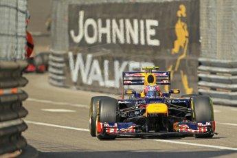 © Octane Photographic Ltd. 2012.  F1 Monte Carlo - Practice 1. Thursday  24th May 2012. Mark Webber - Red Bull. Digital Ref : 0350cb1d0308