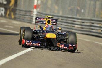 © Octane Photographic Ltd. 2012. F1 Monte Carlo - Practice 1. Thursday  24th May 2012. Mark Webber - Red Bull. Digital Ref : 0350cb1d0374