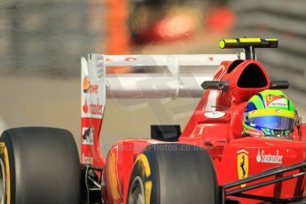 © Octane Photographic Ltd. 2012. F1 Monte Carlo - Practice 1. Thursday  24th May 2012. Felipe Massa - Ferrari. Digital Ref : 0350cb1d0429
