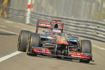 © Octane Photographic Ltd. 2012. F1 Monte Carlo - Practice 1. Thursday  24th May 2012. Jenson Button - McLaren. Digital Ref : 0350cb1d0439