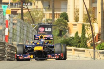 © Octane Photographic Ltd. 2012. F1 Monte Carlo - Practice 1. Thursday  24th May 2012. Sebastian Vettel - Red Bull. Digital Ref : 0350cb1d0476