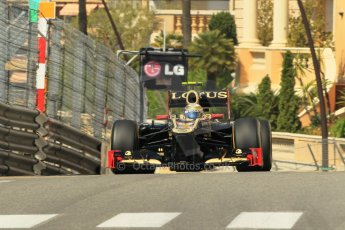 © Octane Photographic Ltd. 2012. F1 Monte Carlo - Practice 1. Thursday  24th May 2012. Romain Grosjean - Lotus. Digital Ref : 0350cb1d0504