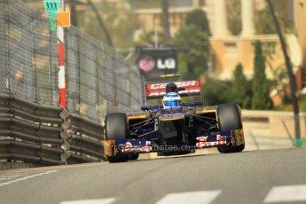 © Octane Photographic Ltd. 2012. F1 Monte Carlo - Practice 1. Thursday  24th May 2012. Jean-Eric Vergne - Toro Rosso. Digital Ref : 0350cb1d0566