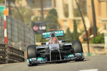 © Octane Photographic Ltd. 2012. F1 Monte Carlo - Practice 1. Thursday  24th May 2012. Michael Schumacher - Mercedes. Digital Ref : 0350cb1d0581