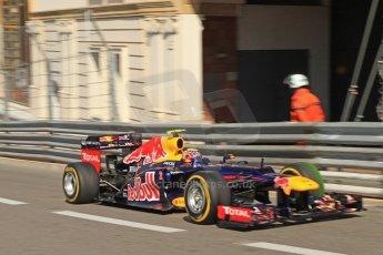 © Octane Photographic Ltd. 2012. F1 Monte Carlo - Practice 1. Thursday  24th May 2012. Mark Webber - Red Bull. Digital Ref : 0350cb7d7366
