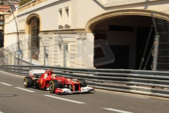 © Octane Photographic Ltd. 2012. F1 Monte Carlo - Practice 1. Thursday  24th May 2012. Fernando Alonso - Ferrari. Digital Ref : 0350cb7d7410