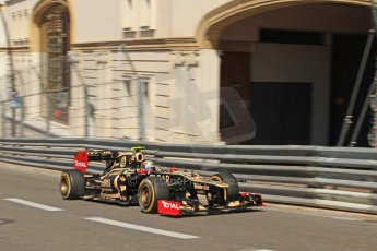 © Octane Photographic Ltd. 2012. F1 Monte Carlo - Practice 1. Thursday  24th May 2012. Romain Grosjean - Lotus. Digital Ref : 0350cb7d7432