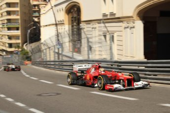 © Octane Photographic Ltd. 2012. F1 Monte Carlo - Practice 1. Thursday  24th May 2012. Fernando Alonso - Ferrari. Digital Ref : 0350cb7d7474