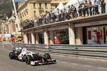 © Octane Photographic Ltd. 2012. F1 Monte Carlo - Practice 1. Thursday  24th May 2012. Kamui Kobayashi - Sauber. Digital Ref : 0350cb7d7480