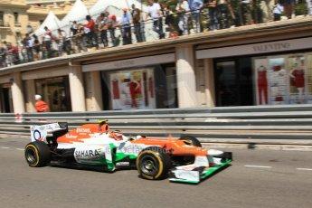 © Octane Photographic Ltd. 2012. F1 Monte Carlo - Practice 1. Thursday  24th May 2012. Nico Hulkenberg - Force India. Digital Ref : 0350cb7d7497