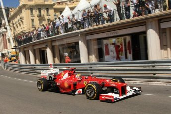 © Octane Photographic Ltd. 2012. F1 Monte Carlo - Practice 1. Thursday  24th May 2012. Fernando Alonso - Ferrari. Digital Ref : 0350cb7d7533