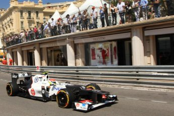 © Octane Photographic Ltd. 2012. F1 Monte Carlo - Practice 1. Thursday  24th May 2012. Sergio Perez - Sauber. Digital Ref : 0350cb7d7564