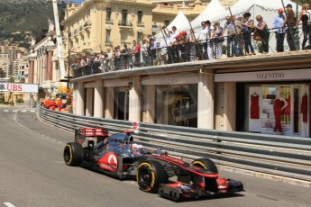 © Octane Photographic Ltd. 2012. F1 Monte Carlo - Practice 1. Thursday  24th May 2012. Jenson Button - McLaren. Digital Ref : 0350cb7d7582