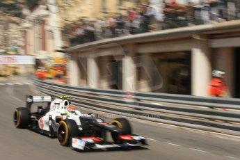 © Octane Photographic Ltd. 2012. F1 Monte Carlo - Practice 1. Thursday  24th May 2012. Sergio perez - Sauber. Digital Ref : 0350cb7d7607