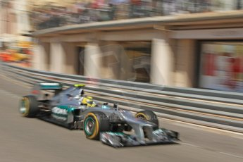© Octane Photographic Ltd. 2012. F1 Monte Carlo - Practice 1. Thursday  24th May 2012. Nico Rosberg - Mercedes. Digital Ref : 0350cb7d7611