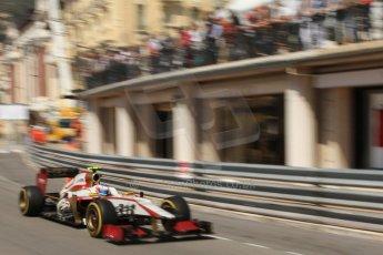 © Octane Photographic Ltd. 2012. F1 Monte Carlo - Practice 1. Thursday  24th May 2012. Narain Karthikayen - HRT. Digital Ref : 0350cb7d7620